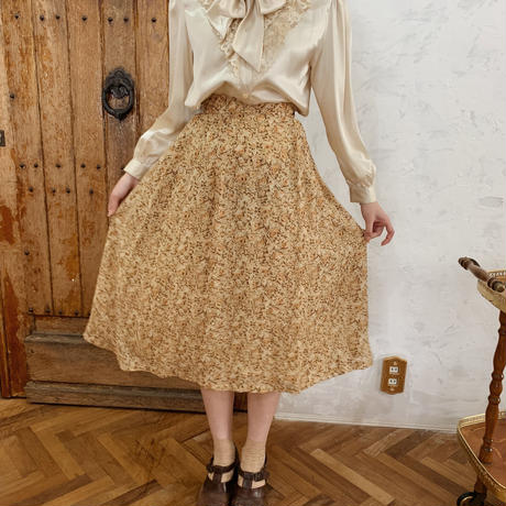 retro flower spring flare skirt