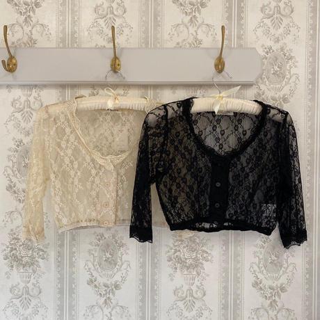 lace short gown