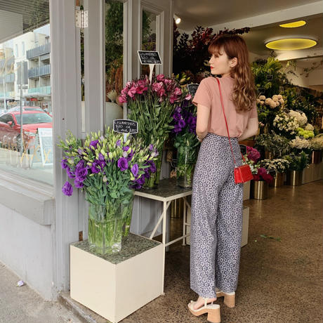 flower lace wide pants