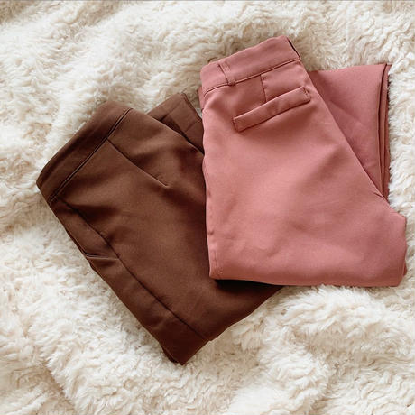 straight slacks pants(brown)