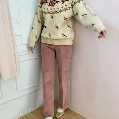 corduroy pink pants
