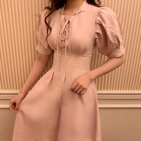 feminine lace-up one-piece
