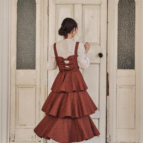 jacquard butterfly frill skirt