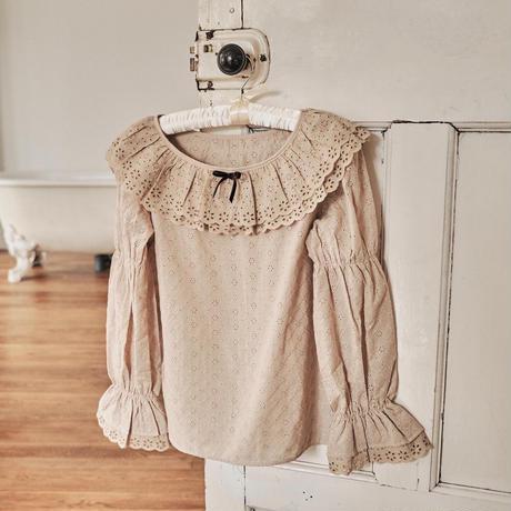 marron cream blouse