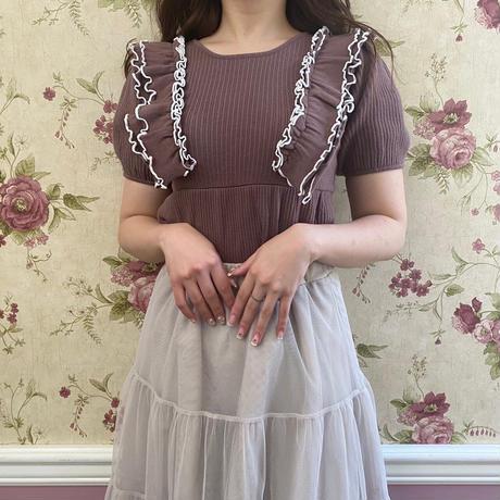 mellow frill knit tops