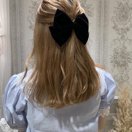 velours ribbon hair barrette