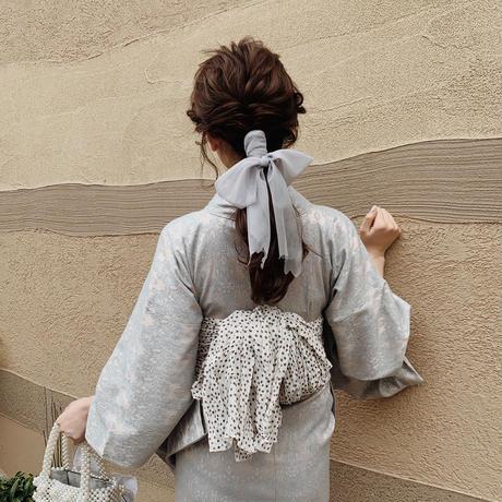 vintage lace Yukata(blue)