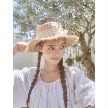 retro ribbon straw hat