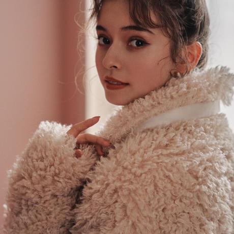 poodle boa short jacket