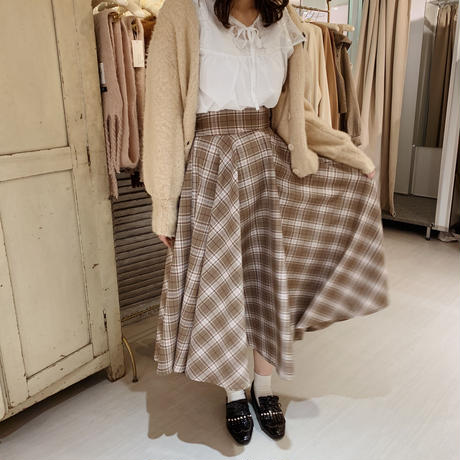 Treat Rili check flare skirt