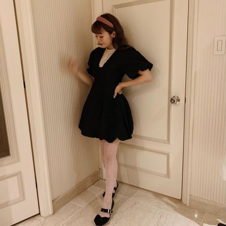 puff mini dress