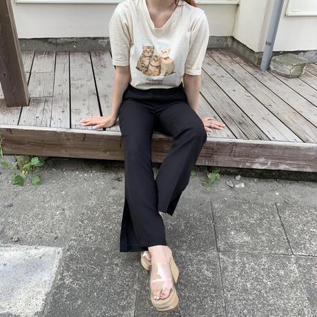 Treat cat T-shirts (cream)
