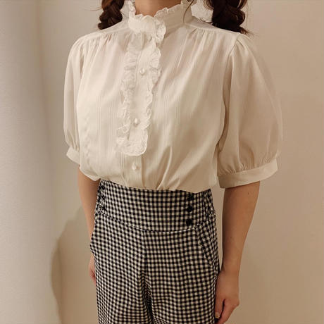 classical puff blouse(white)