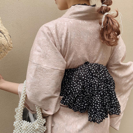 vintage lace Yukata (pink)