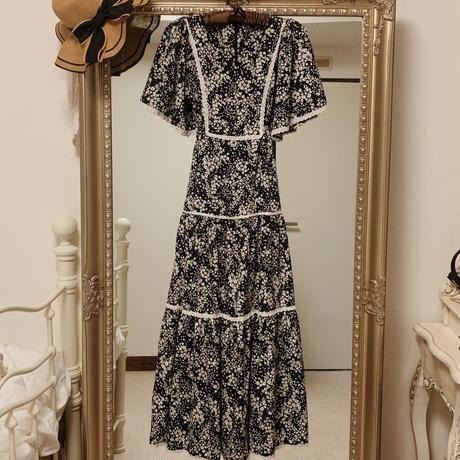 my floret bouquet dress(black)