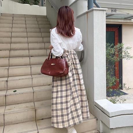 British corduroy check skirt