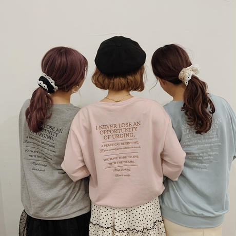 Love and Dream sweat (blue)