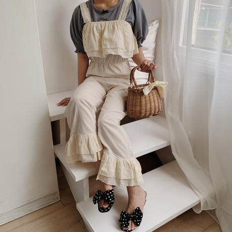cotton frill rompers