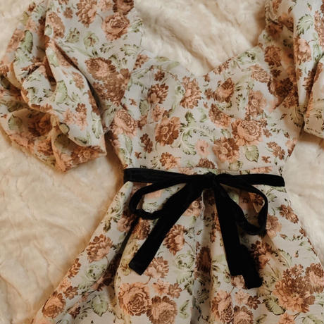 Jacquard flower occasion dress