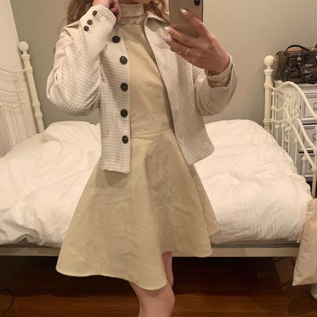 gingham check short jacket