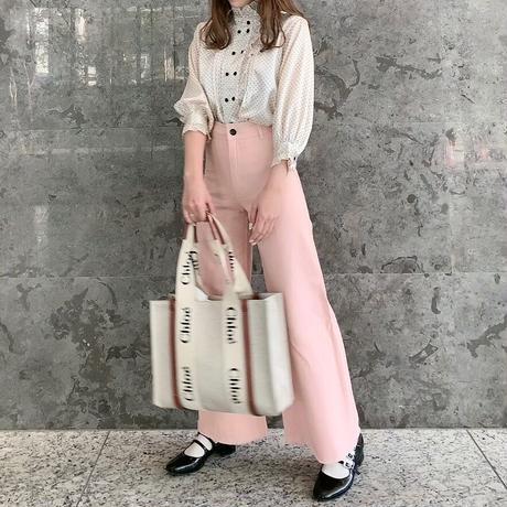 Treat pink wide denim pants