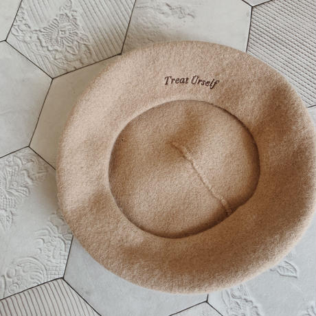 Treat original beret hat(beige)