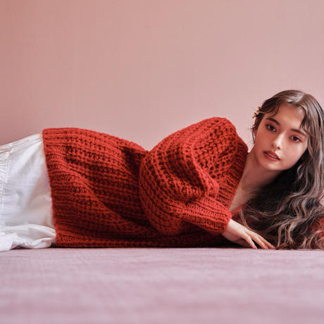 Handmade loose knit(red)