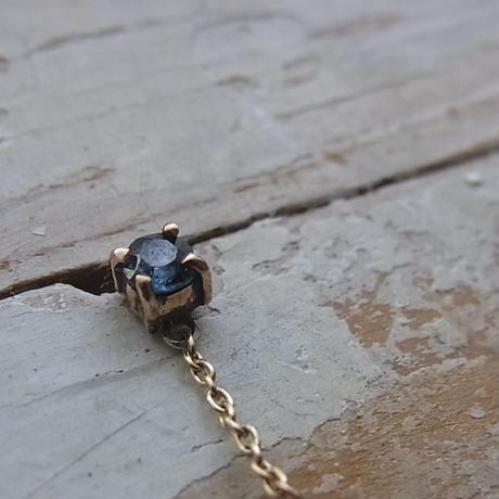 小さな宇宙・・・ローマングラスK10pierced earrings