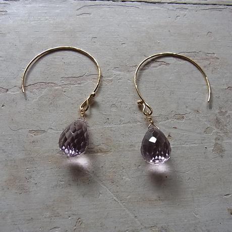 ピンクアメジスト sizuku pierced earrings