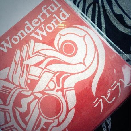 Wonderful World 手ぬぐい:藍