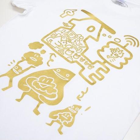 GOLD×WHITE Tee / by DOKIDOKIDOKKN a.k.a NANA RABIRABI