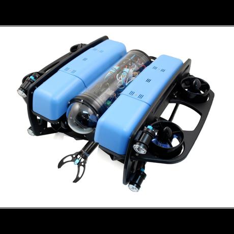 【水中ドローン社】BlueROV2アームド・オクトパス アーム・スラスター8基・ライト4個搭載・水深100m耐圧保証・200m標準テザーケーブル・水中挿抜可能コネクタ付属モデル【スターティングセット】