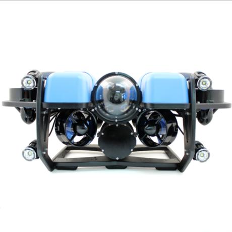 【BlueROV2オクトパス】スラスター8基搭載(6DoF対応)・水深100M対応・外部ライト4個搭載・200Mテザーケーブル・テザーリール対応・水中コネクタ付属モデル【水中ドローン社】