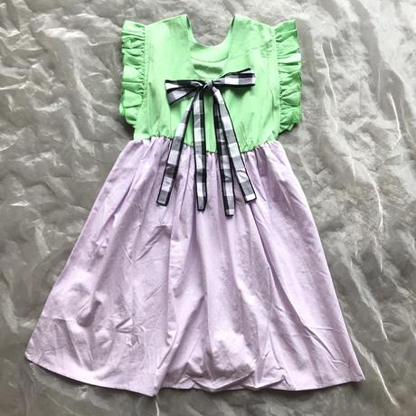 frankygrow BACK SHAN RIBBON DRESS DYED LL size
