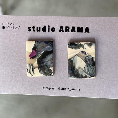 studio ARAMA  アートミニイヤリング