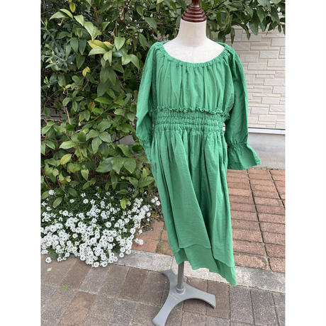 folk made  chiffon  dress