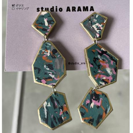 studio ARAMA  幾何学合わせ ピアス