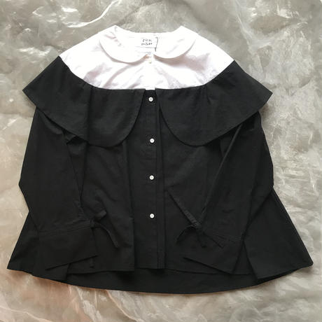 folk made double color blouse レディース size