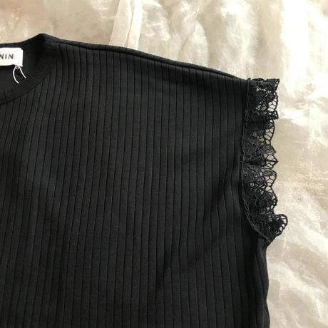 UNIONINI teddybear lace ribtopsM(150〜160㎝)