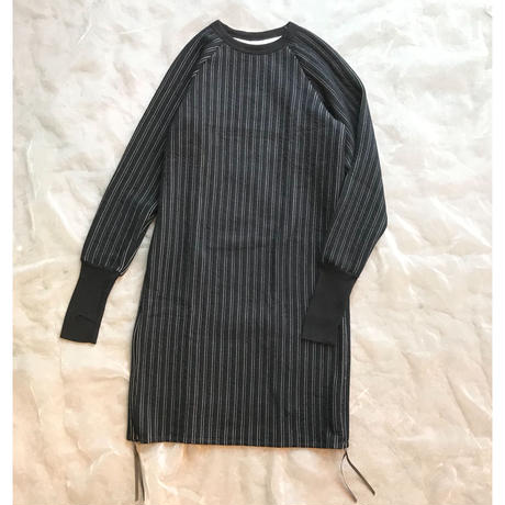 MOUN TEN. stripe quilt side slit dress レディース 1size