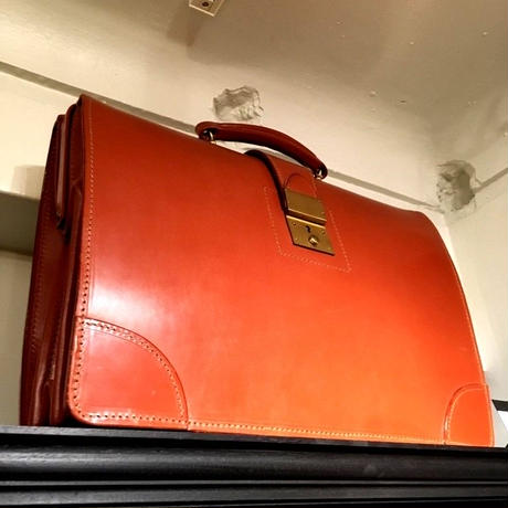 Barrow & Hepburn / Flame Top Brief Case / Brown