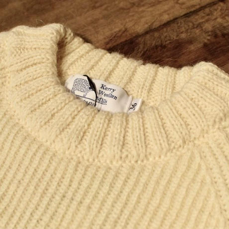 KERRY WOLLEN MILLS / Fisherman Rib Crew Neck