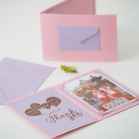 フォトカード(ピンク&パープル)プリント付き