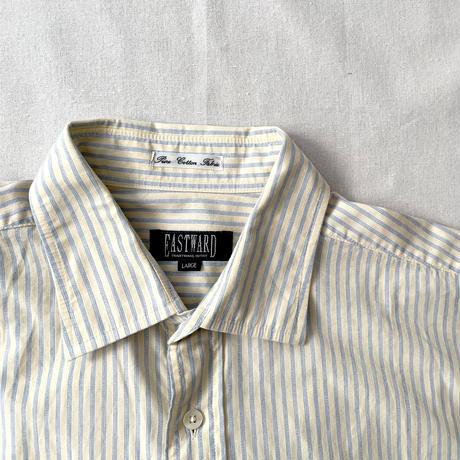 yellow × blue stripe shirt