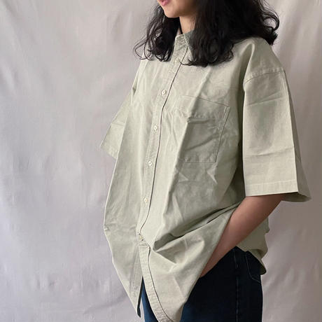 over size shirt lightgreen