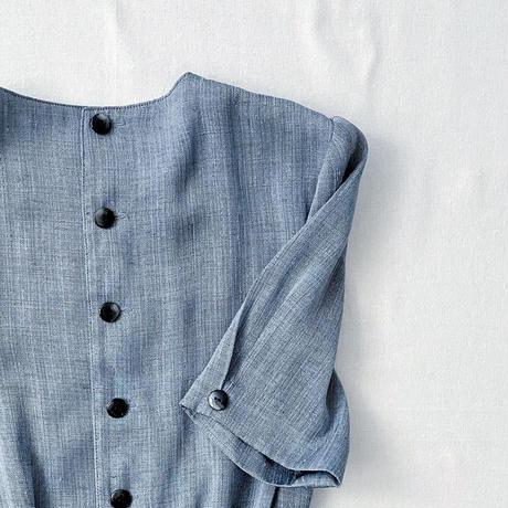 rétro blue one-piece