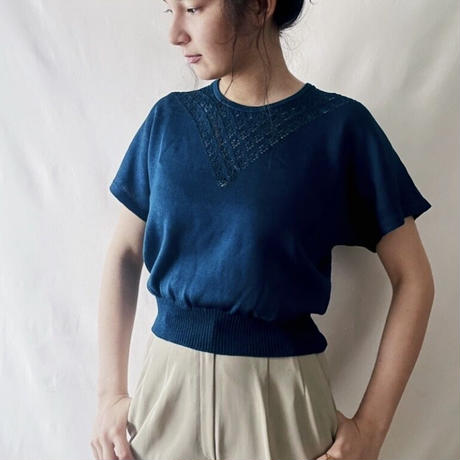 lace summer knit blue