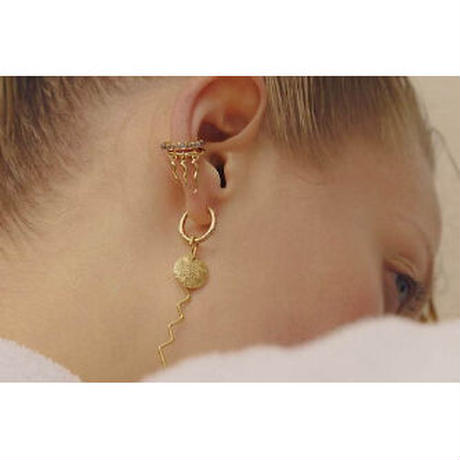 MARIA BLACK medusa ear cuff silver