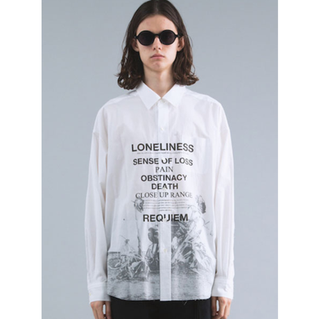 CHRISTIAN DADA COTTON LAWN PRINT SHIRT