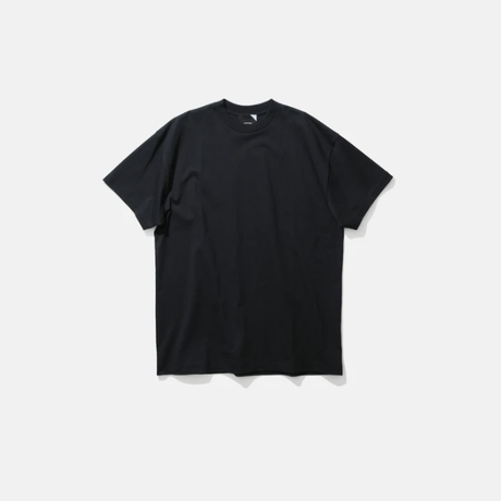 ATON   SUVIN AIR SPINNING   OVERSIZED T-SHIRT   BLACK